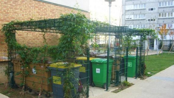 Aire regroupement conteneurs habitat public et privé