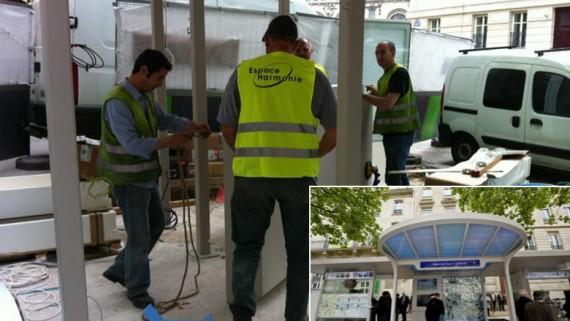 Installation et maintenance de mobilier urbain
