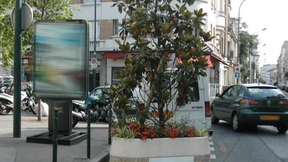 jardinière hors sol mobilier urbain