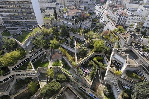 mobilier urbain aménagement extérieur année 1970