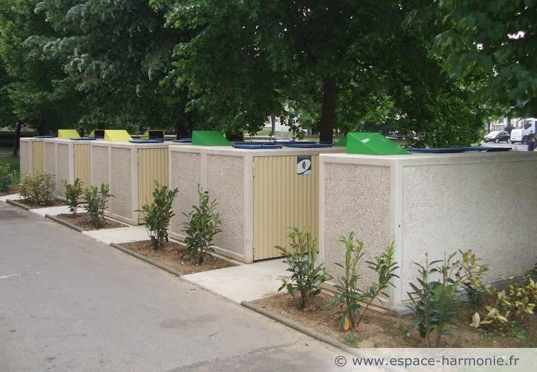 collecte sélective des déchets ménagers - conteneurs