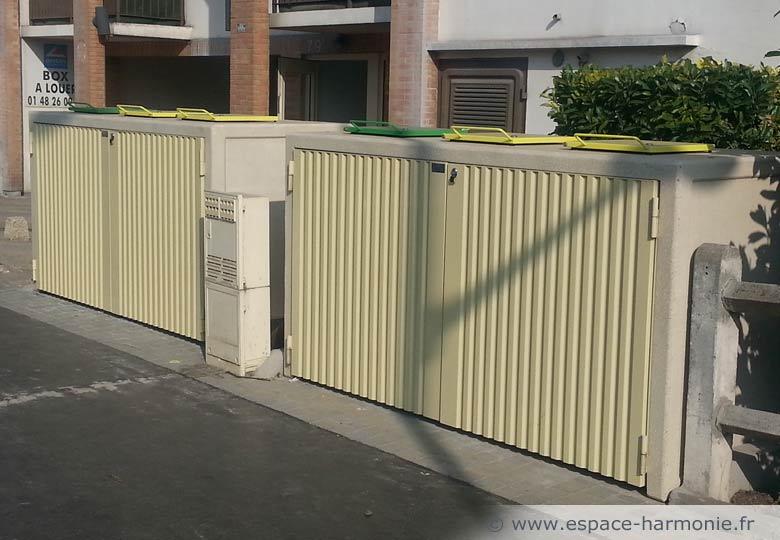conteneur tri des déchets mobilier urbain