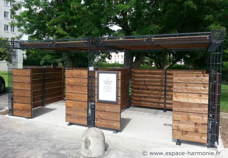 Aire conteneurs cityflor bois for Conteneur bois