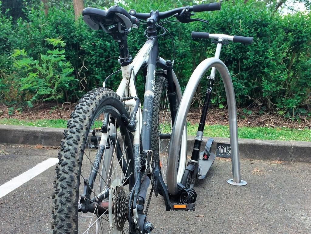 Arceau vélo spirale