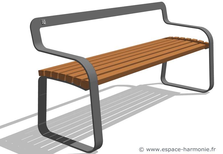 banc public mobilier urbain pour les espaces urbains