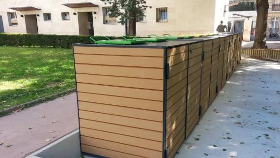Abri pour conteneurs mobilier urbain