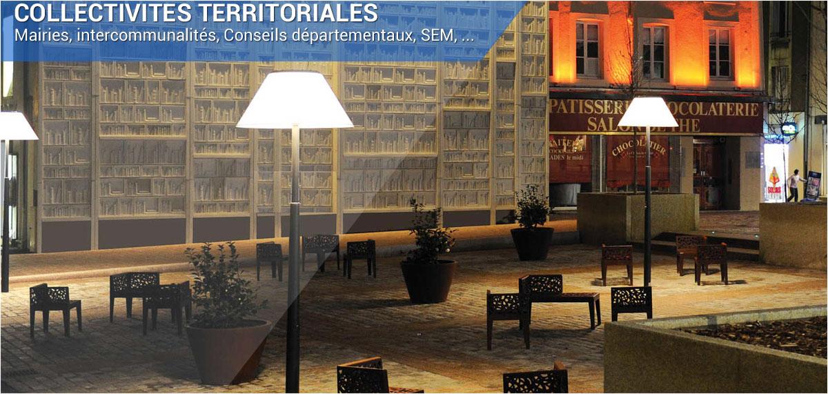 équipements pour collectivités territoriales mobilier urbain