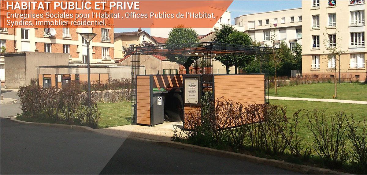 mobilier pour l'espace public stationnement tri et encombrants