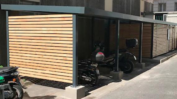 range trottinettes mobilier urbain